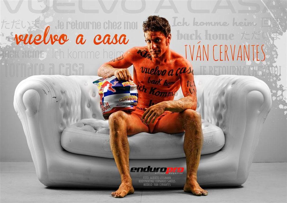Body Painting Ivan Cervantes Campeón del Mundo de Enduro para ENDUROPRO Magazine