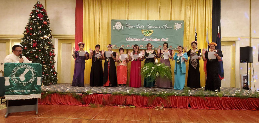 Consul Mark Francis C. Hamoy, Acting Head of Post, inducts new Board of Directors of Filipino Ladies Association of Guam during their 59th Induction and Christmas Ball on 3 January 2020 at the Chamorro Ballroom of the Pacific Star Resort and Spa.