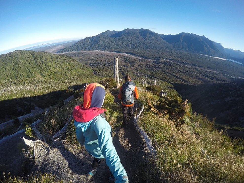 Descene volcan Chaiten