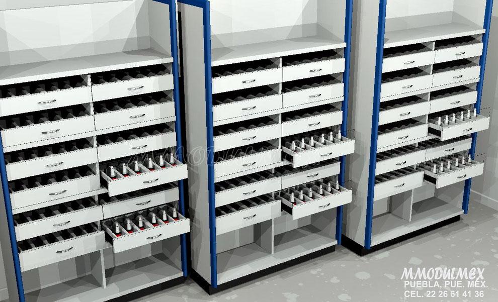 Diseño de Organizador para cosméticos, mueble para cosméticos, muebles para medicinas, cajones para medicinas, Mueble para medicinas