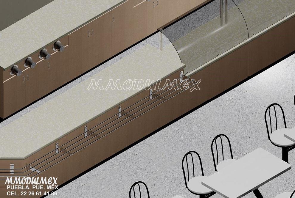 Diseño de Muebles para cafetería, mostrador para cafetería, muebles para restaurantes, barras para cafetería