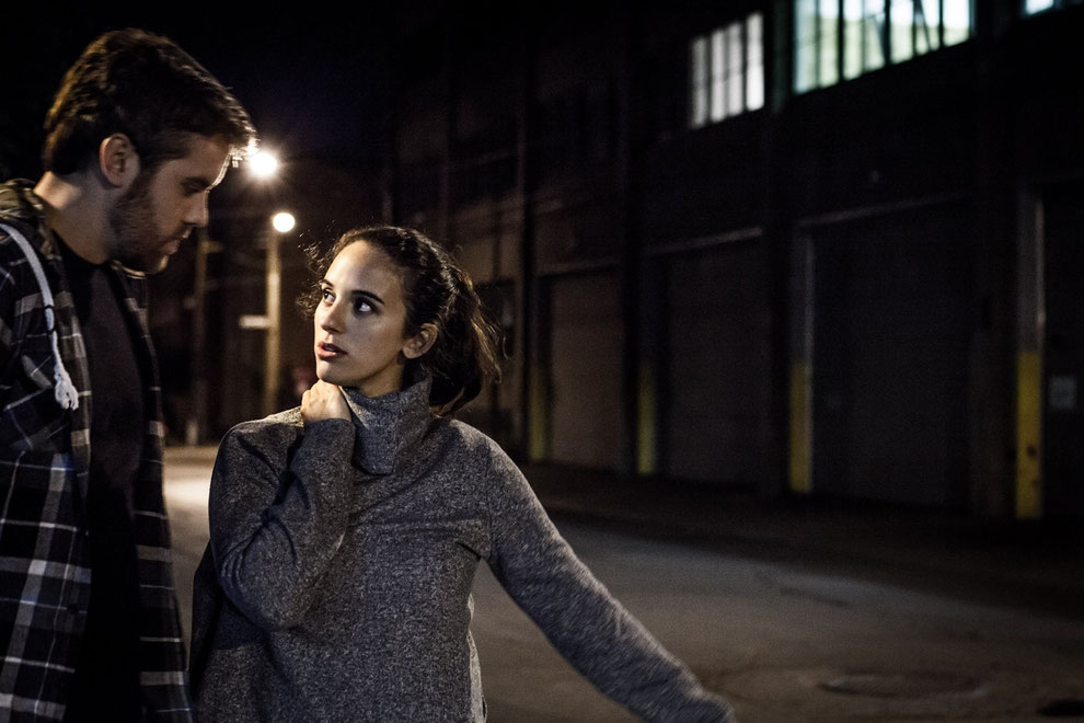 Annie Kim Thériault avec Alex Martel sur le plateau de AUJOURD'HUI LE CHAOS © Éva-Maude TC