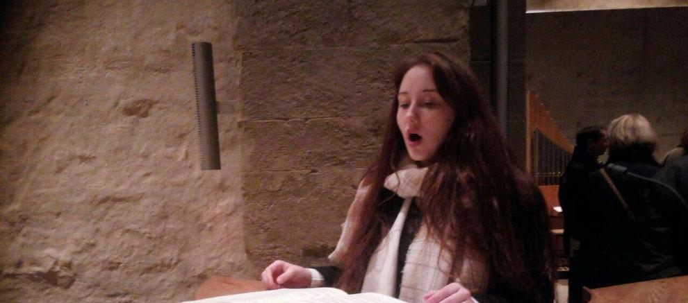 Klosterkirche Volkenroda 12.12.2015 3. Adventsgottesdienst mit Kardinal Joachim Meisner, Gesang Laura Anne-Rose, Orgel Gerhard Baudisch