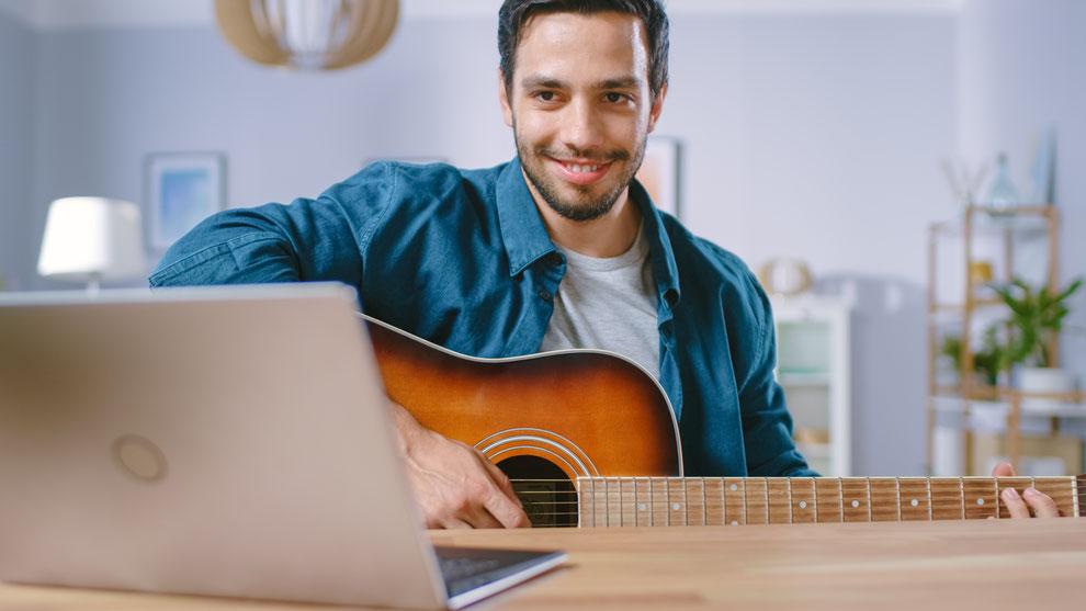 Gitarrenunterricht Skype