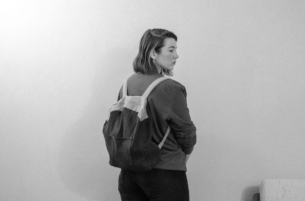 DIY Rucksack aus einer alten Jeans