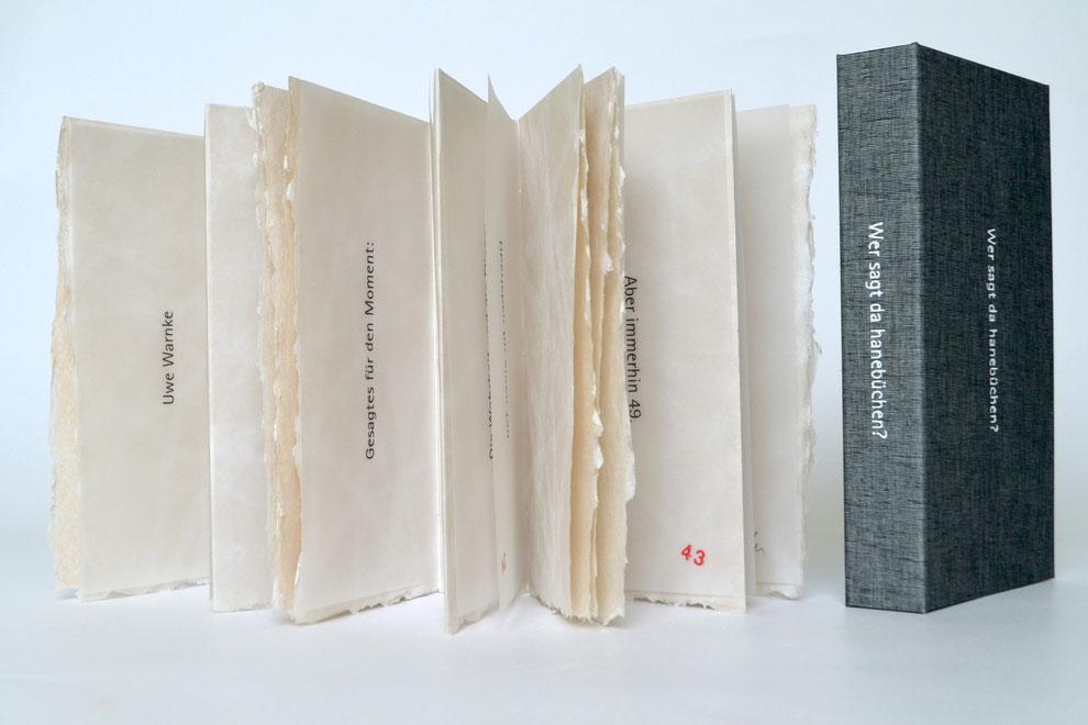 """""""schliesslich ist es"""" (2013) -  Ein Künstlerbuch von John Gerard mit einem Text von Uwe Warnke"""