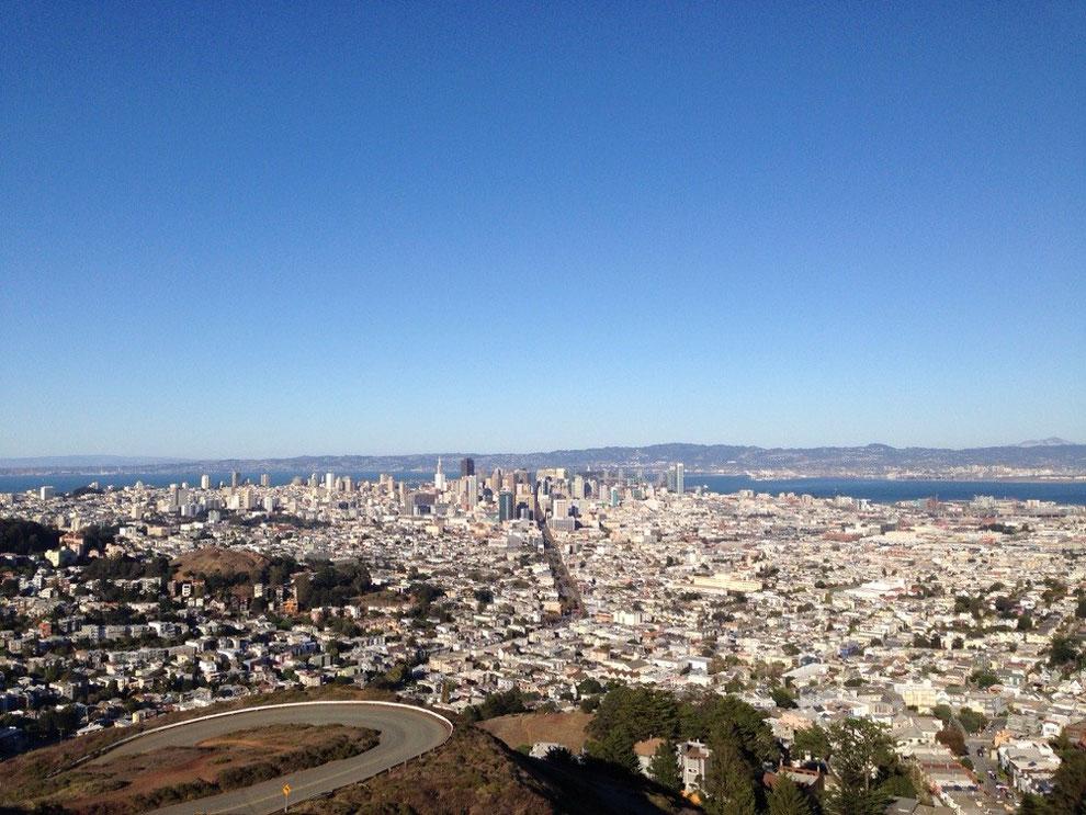 SF Skyline from twin peaks