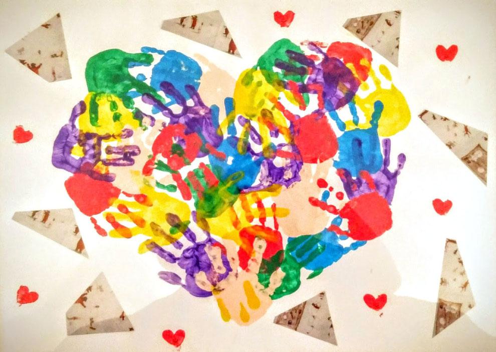 Dieses Bild machten die Kinder aus der TFK Wichlinghauser Schulstraße um sich zu bedanken.