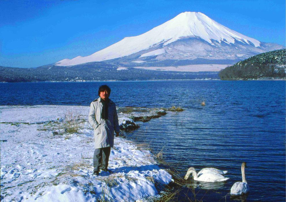9  .   富士山 山中湖 大白鳥