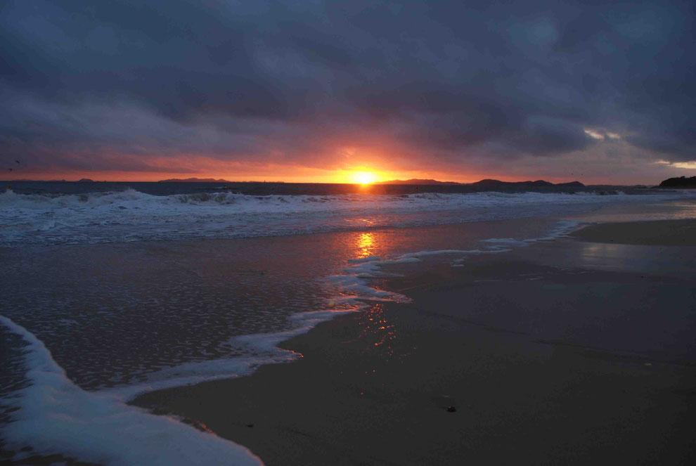 13  .   KOREA  DAE CHEON  한국 충청도 대천 해수욕장        황해의 황혼