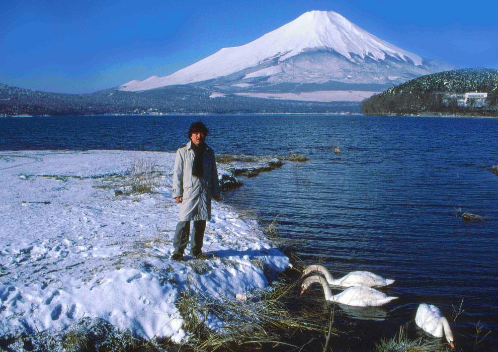 7  .   富士山 山中湖 大白鳥