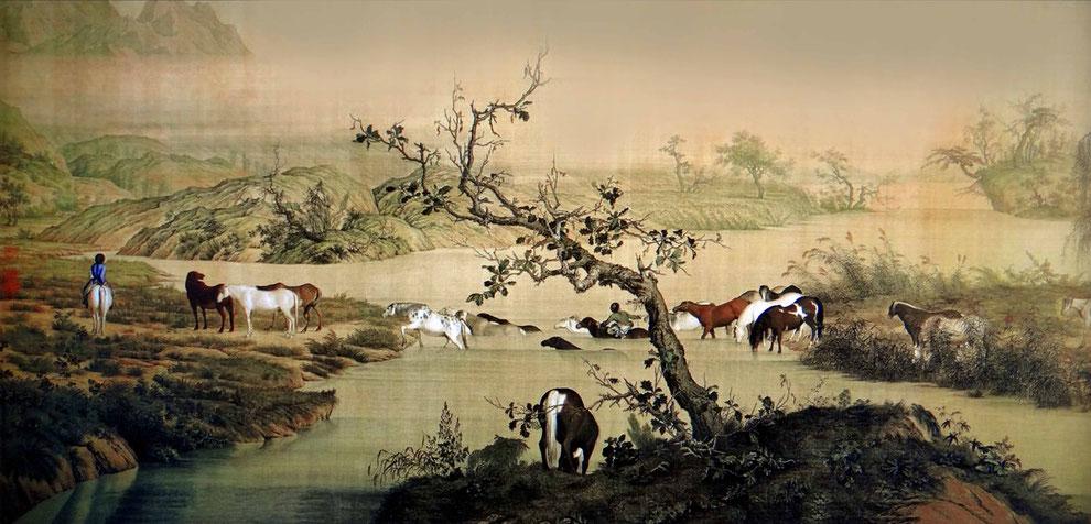 1 .  중국 의 군마그림