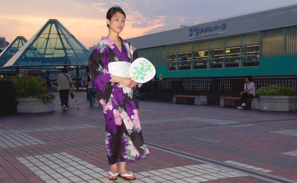 東京都 多摩市 多摩センター   駅   パルテノン中央 広場    芸術家  キム  ミン ジョン  画伯
