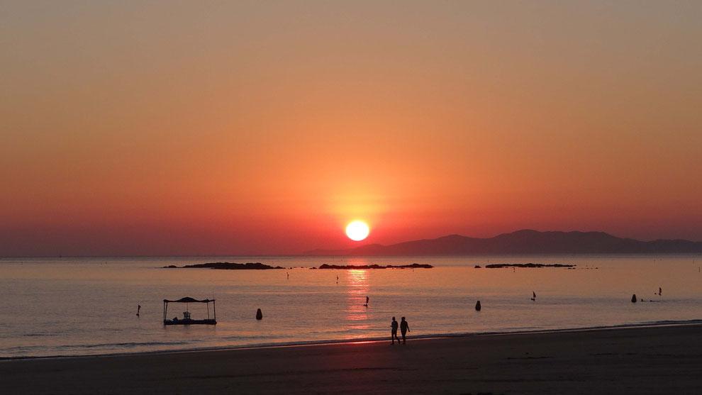12  .   KOREA  DAE CHEON  한국 충청도 대천 해수욕장       황해의 황혼
