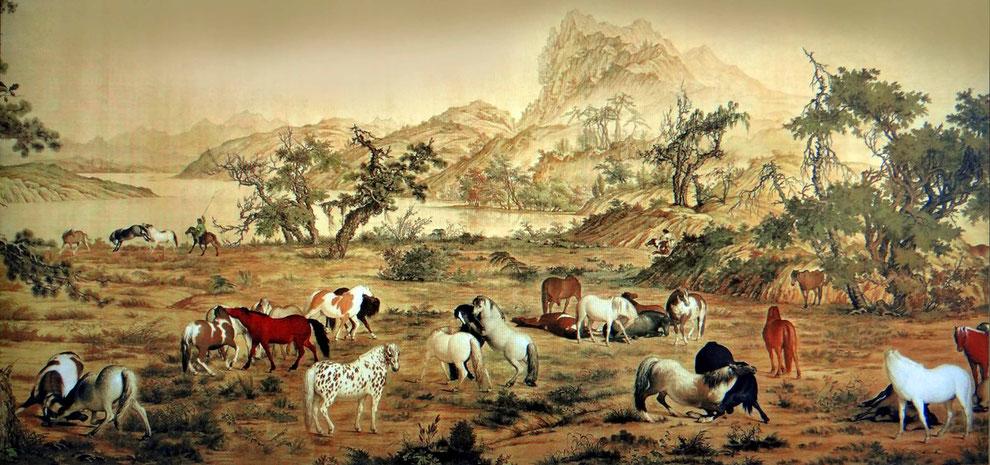 3 .  중국 의 군마그림