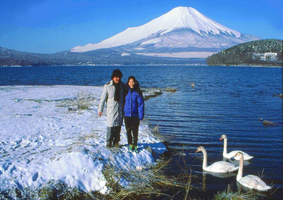 12  .   富士山 山中湖 大白鳥