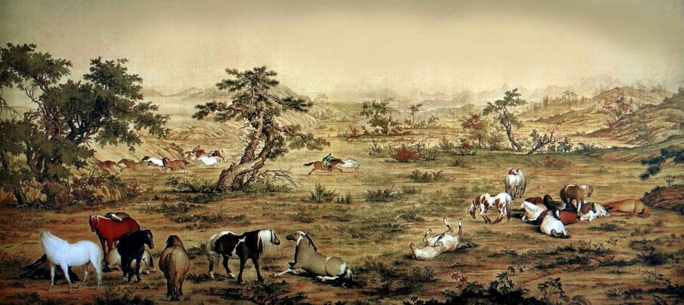 4 .  중국 의 군마그림