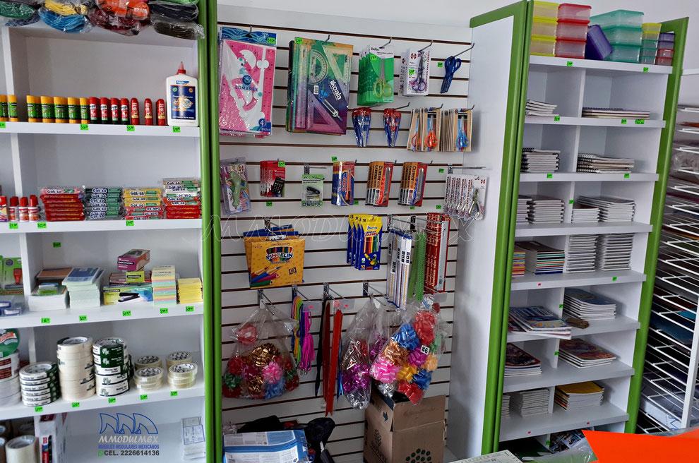 Muebles para papelería, anaqueles para papeleria, mostradores para papeleria, estantes para papeleria, vitrinas para papeleria