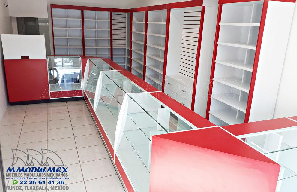 Muebles para papelerías, vitrinas para papelerías, mostradores para papelerías