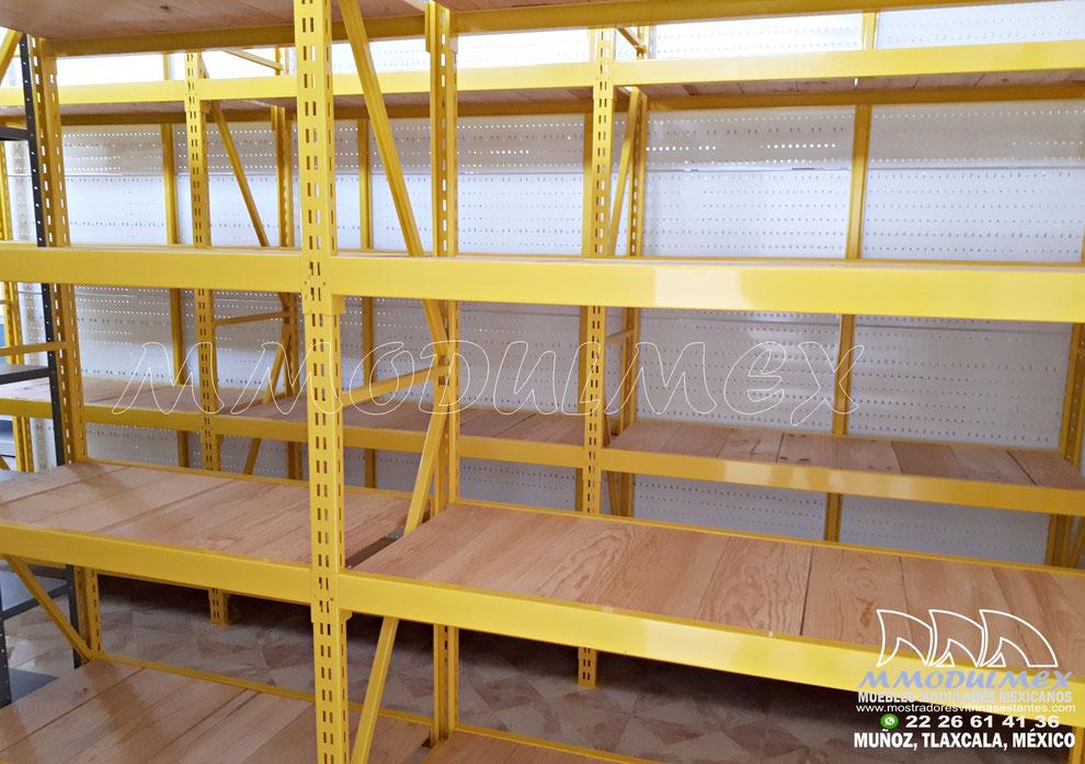 Rack de carga semi pesada con plataforma de madera de pino