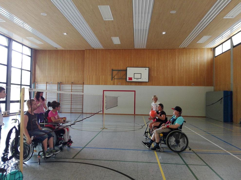 Rolli-Gruppe des Rastatter SC/DJK (Sportgruppe für Menschen mit Handicap)