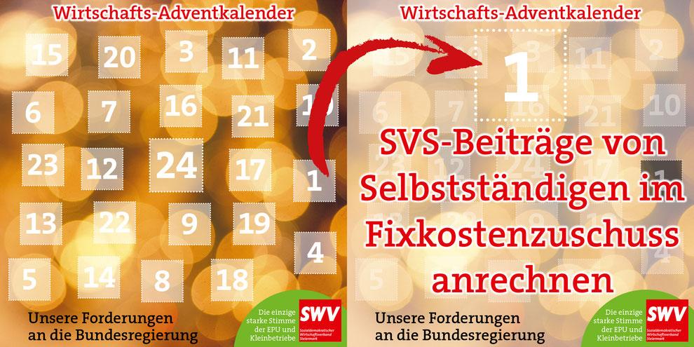 Dezember 2020 --> SWV-Adventkalender: Jeden Tag eine Idee für die Bundesregierung.