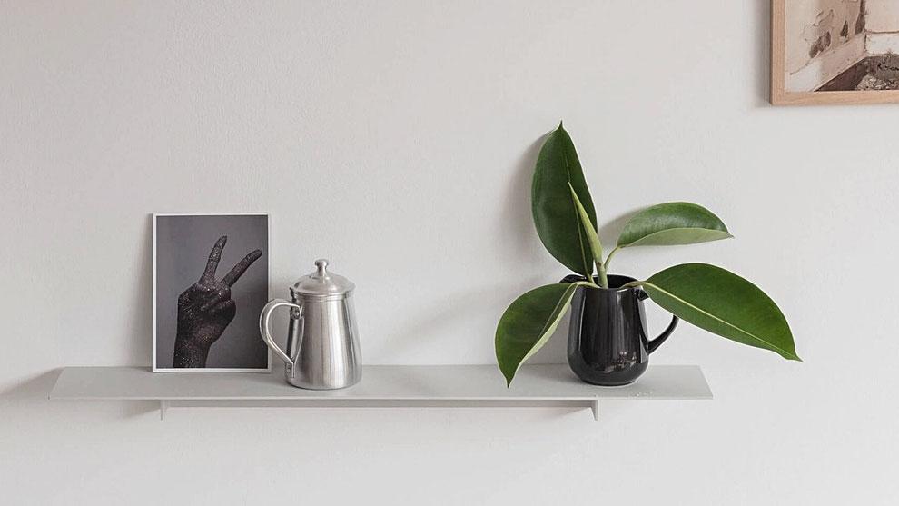 Plié - mini shelf Light Grey von UTIL