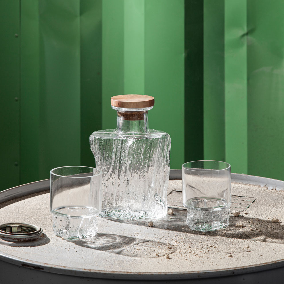Cerne Karaffe mit Gläser Set, Mundgeblasen in Portugal