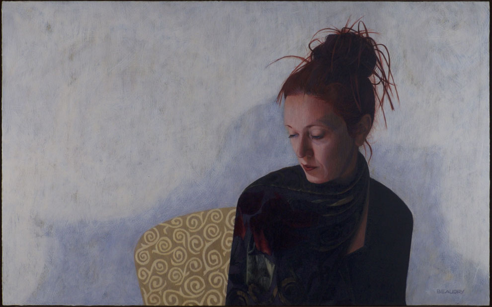 francois beaudry egg tempera painting portrait helene 8