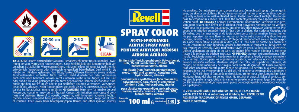 Revell Spray Color Gebrauchsanleitung