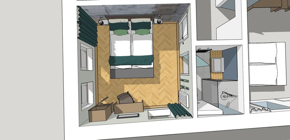 Entwurf für das Burghotel Lingen