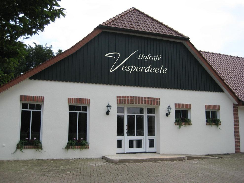 Endspurt im Hofcafé Versperdeele in Herssum. Eröffnung im Oktober 15