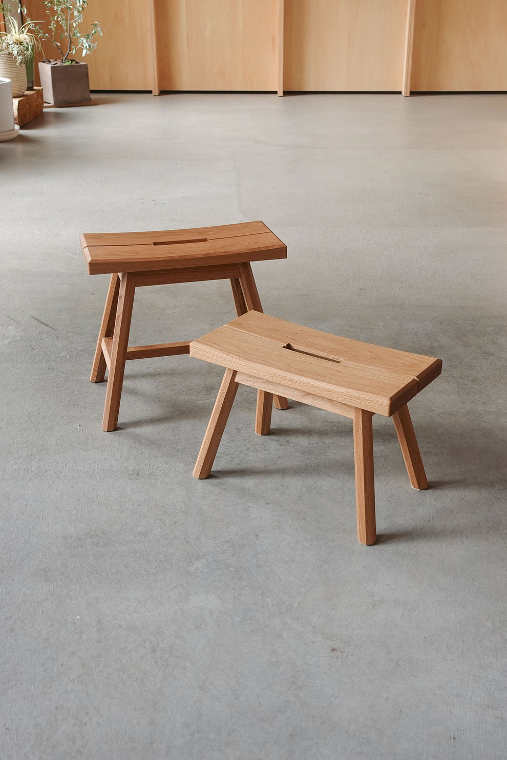 仙台 秋保 無垢材 家具 オーダー家具 椅子 スツール 手仕事