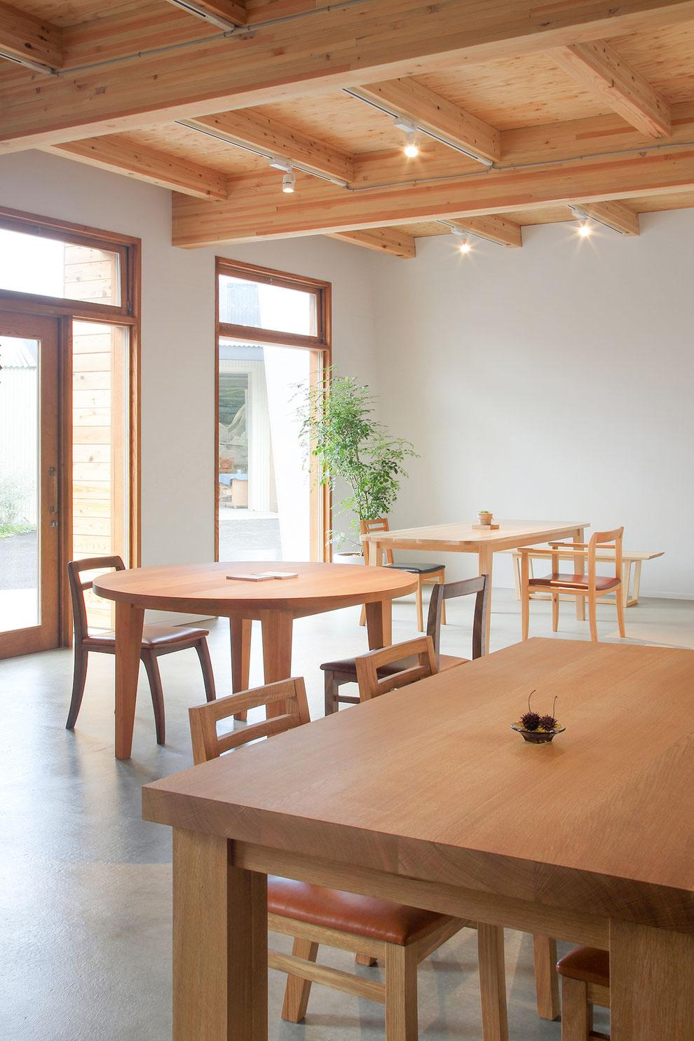 無垢材 天然木 ダイニングテーブル ハンドメイド 家具