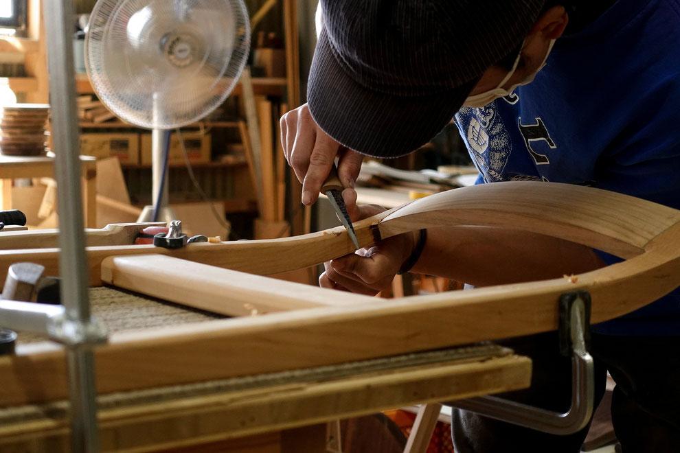 仙台 秋保 家具職人 手作り 手作業 椅子