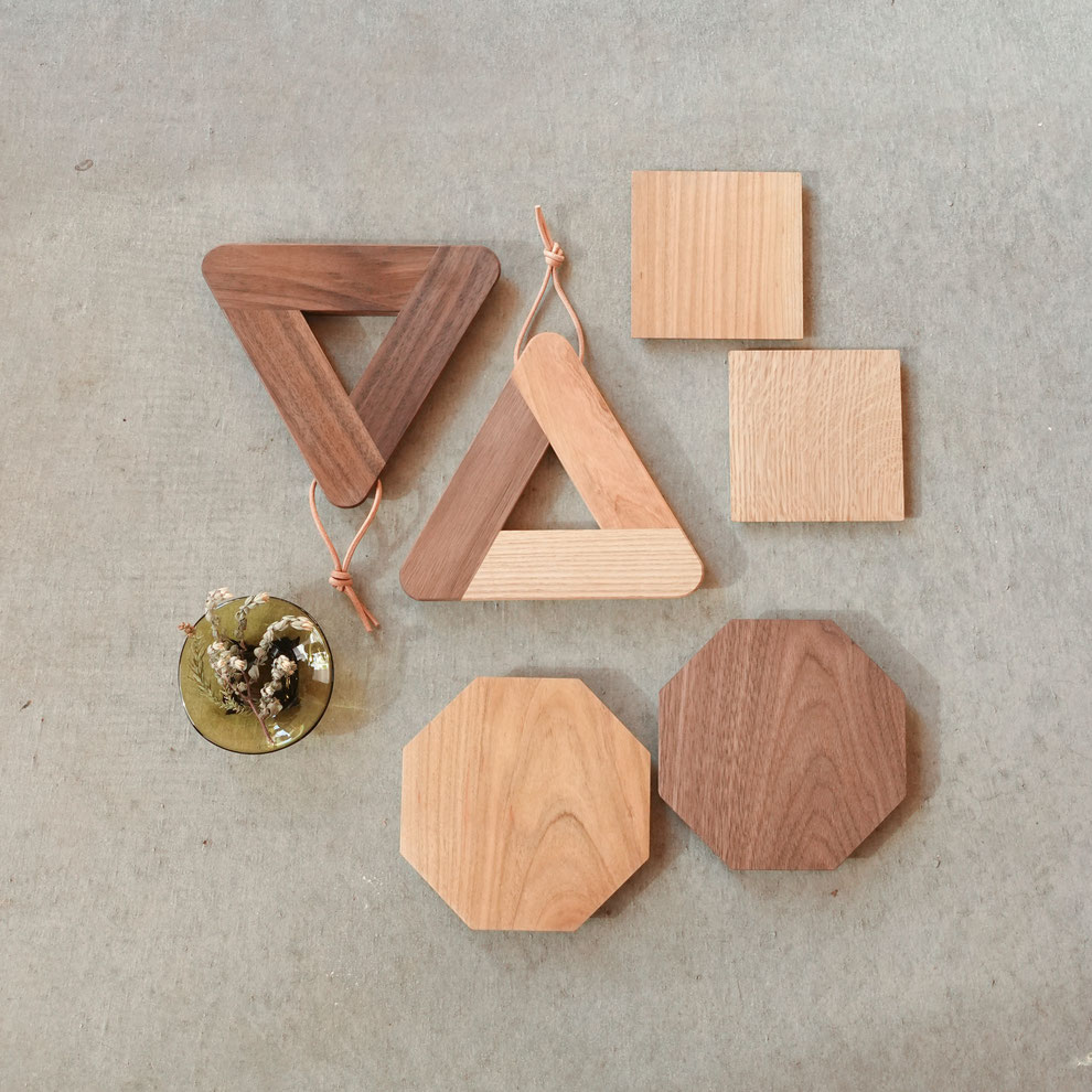 クラスコファニチャー オリジナル家具 鍋敷き コースター 木のお皿  無垢材 オイル仕上げ