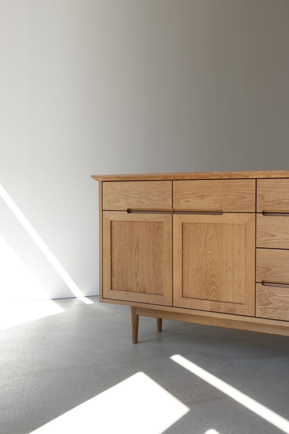 仙台 秋保 オーダー家具 家具 収納 無垢材 ブラックチェリー  サイドボード