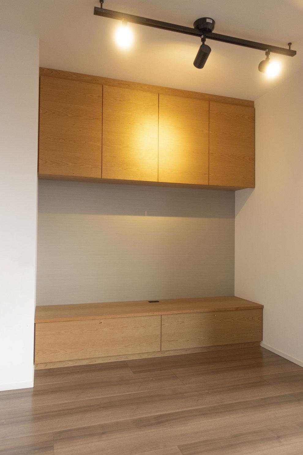 仙台 秋保 オーダー家具 家具 収納 サクラ  TVボード 真鍮