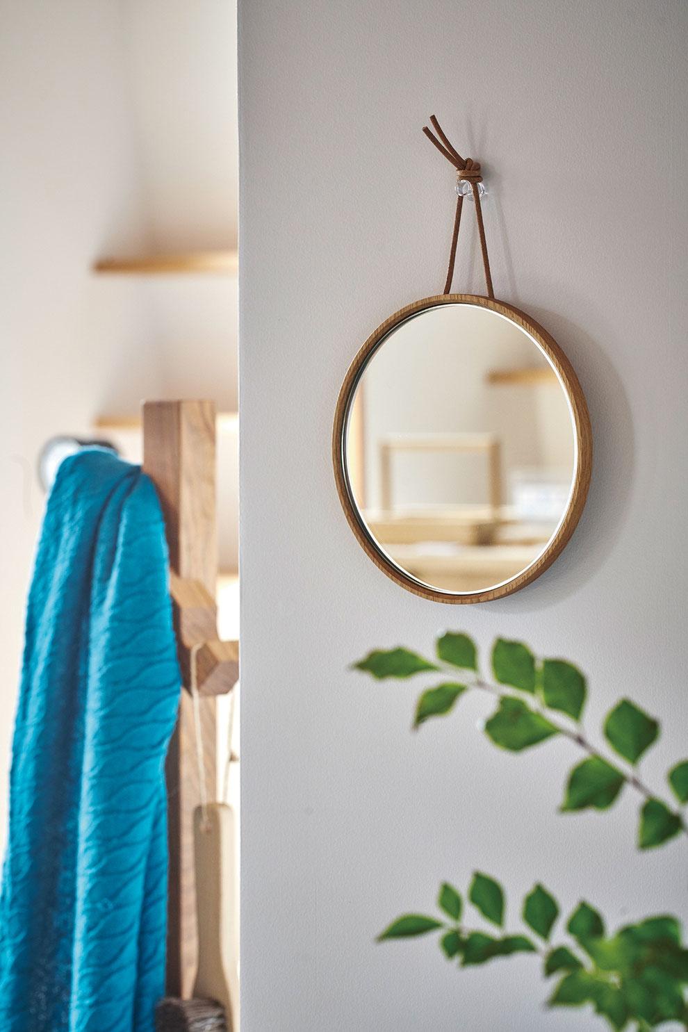 クラスコファニチャー オリジナル家具 壁掛けミラー ミラー 無垢材 オイル仕上げ