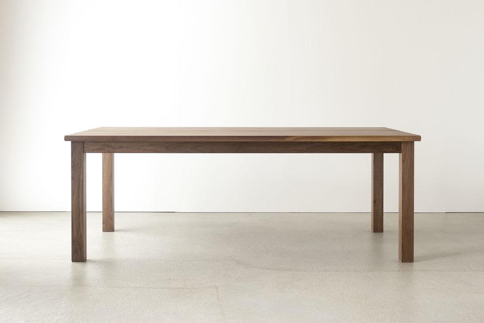 仙台 秋保 家具 オーダー家具 ダイニングテーブル 無垢材 ウォールナット クラスコファニチャー