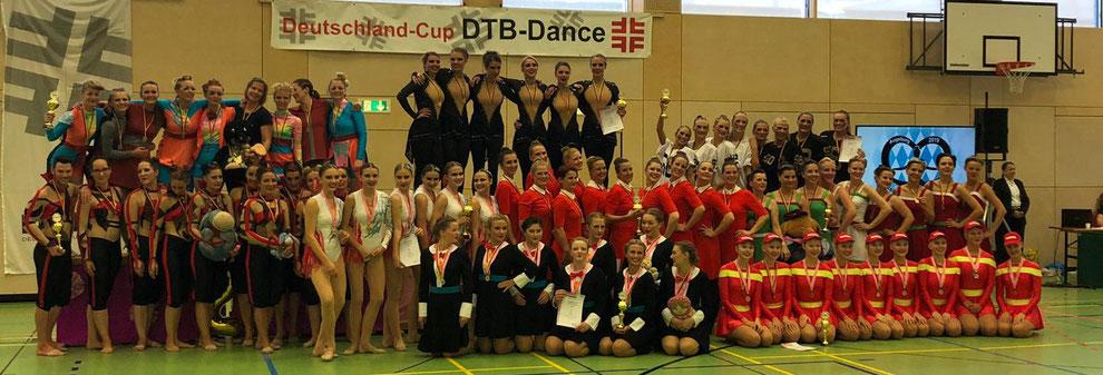 Siegerteams und Platzierte beim Deutschland-Cup DTB-Dance 2019