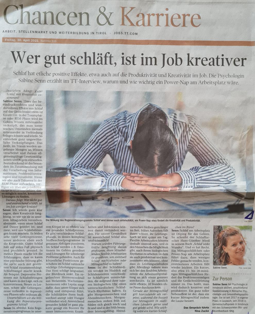 Bildquelle: Tiroler Tageszeitung, Ausgabe vom 30.04.2021