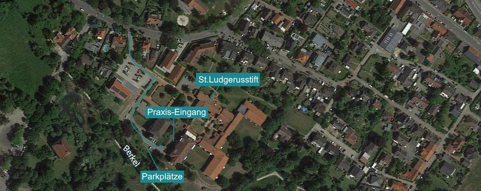 Praxis für Podologie in Billerbeck im Kreis Coesfeld im Münsterland - Anfahrt und Zuwegung im St. Ludgerus-Stift Seniorenheim Fußpflege Pediküre