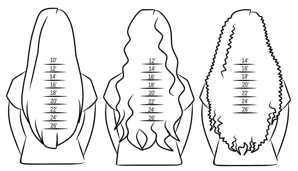 Longueur des cheveux selon leurs textures
