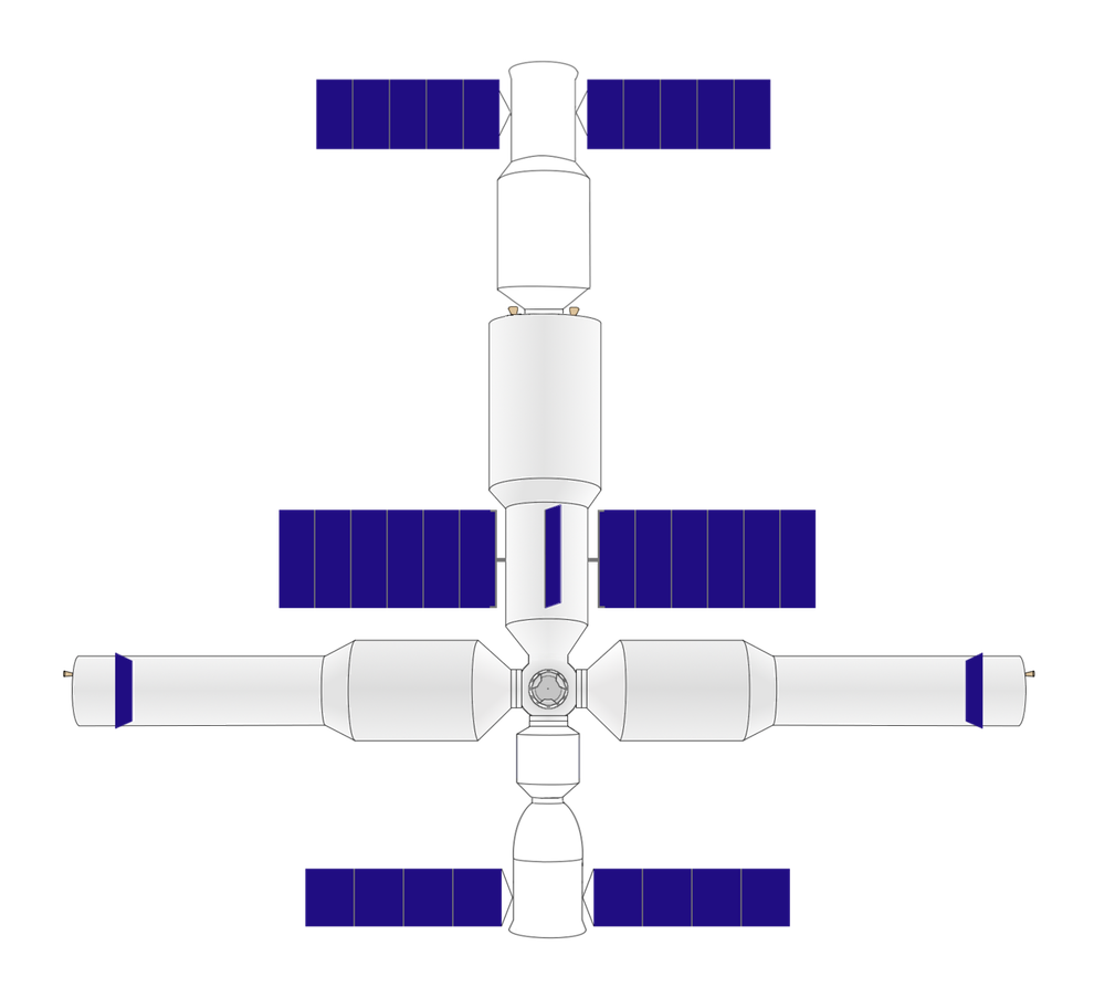 Chinese large modular space station