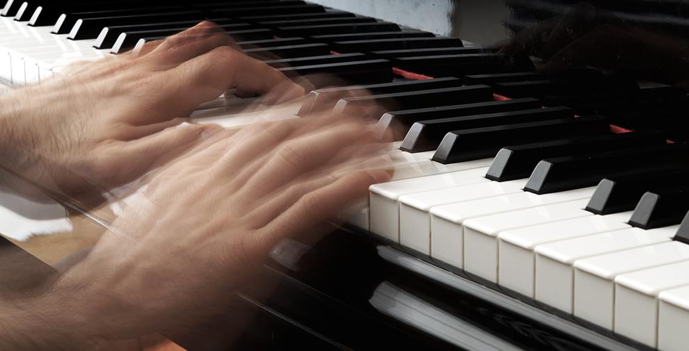 Anschlagstechnik auf der Klaviertastatur