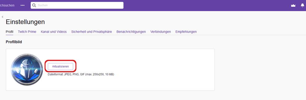 Tutorial Twitch Logo hinzufügen oder bearbeiten
