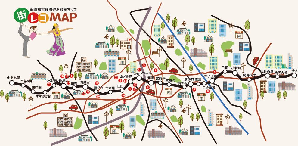 田園都市線趣味の教室マップ