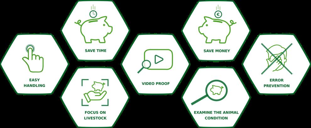 pig counter Vorteile Schweine zählen Video Dokumentation Ferkel