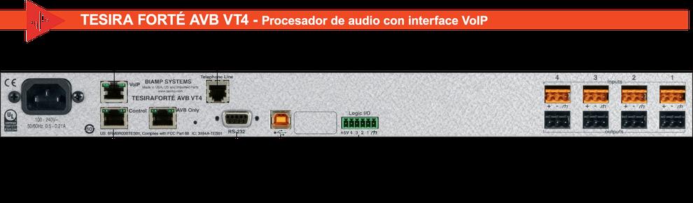 interface avb, tesira forte, voip, videoconferencia